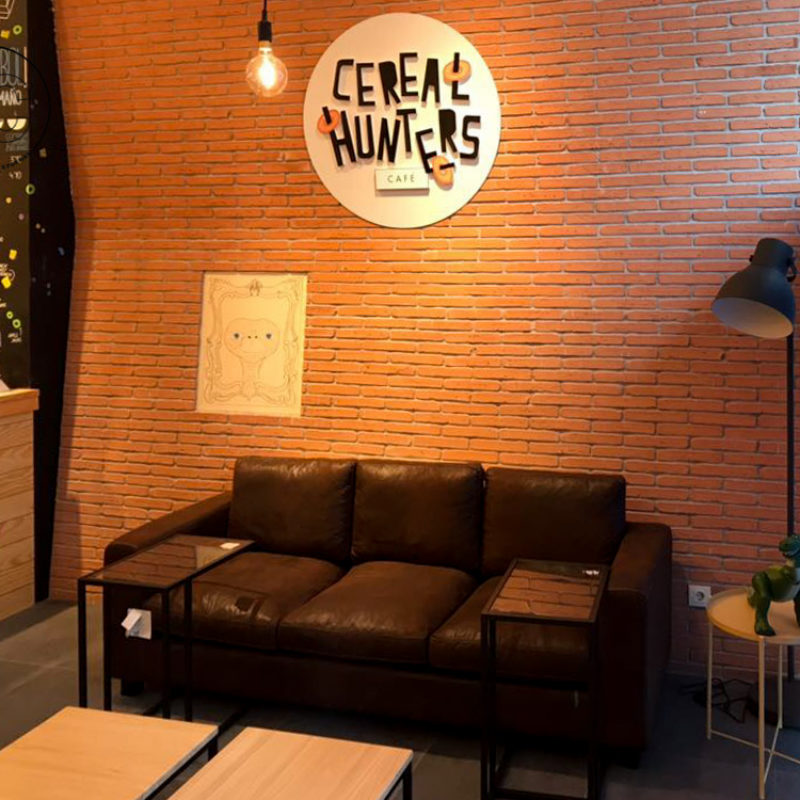 decoracion interior Cereal Hunters
