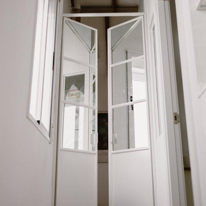 puertas francesas de metal y cristal