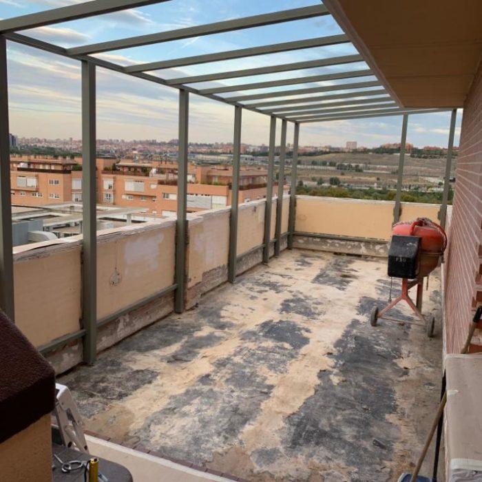 terraza antes de enceramiento