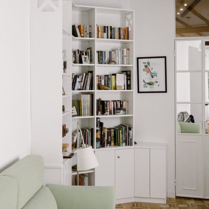 armario biblioteca blanco